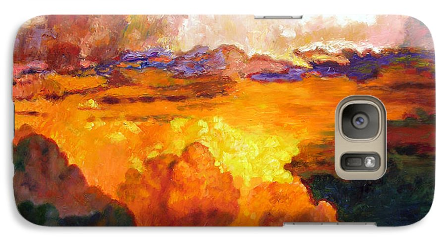 Clouds Galaxy S7 Case featuring the painting Ill Fly Away O Glory by John Lautermilch