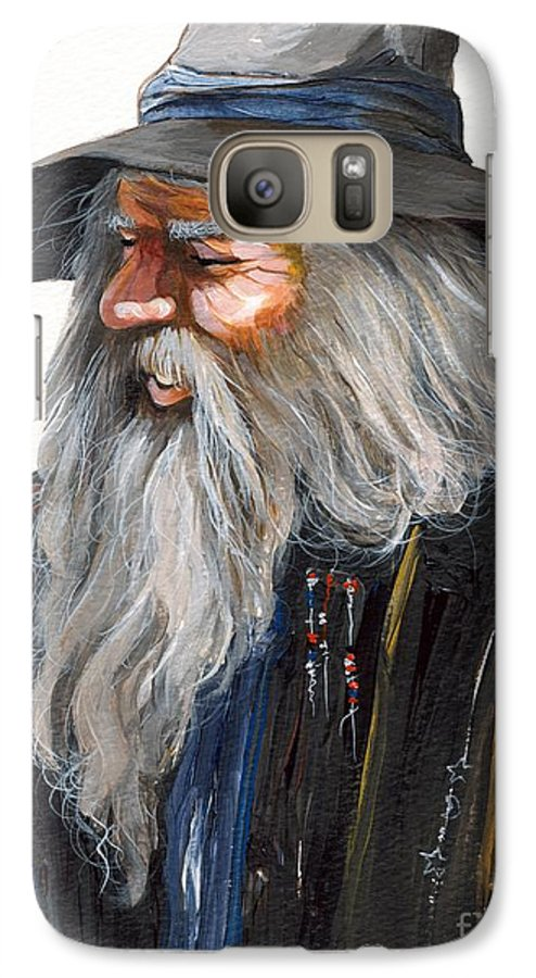 Fantasy Art Galaxy S7 Case featuring the painting Impressionist Wizard by J W Baker