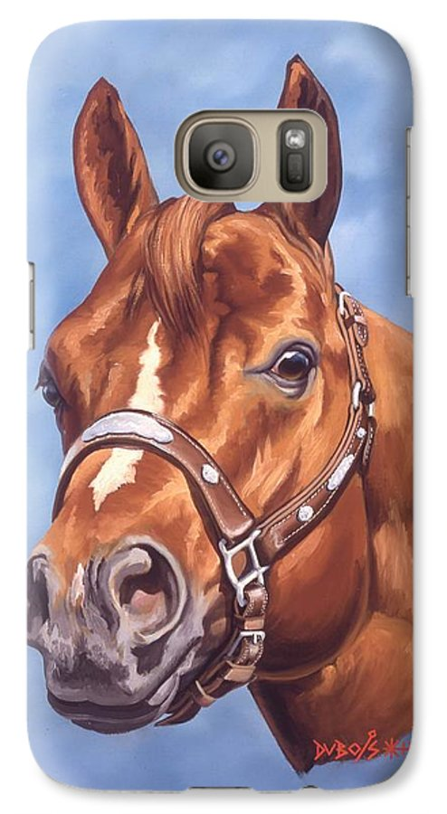 Quarter Horse Galaxy S7 Case featuring the painting Impressive by Howard Dubois