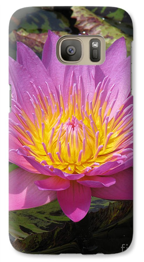 Lotus Galaxy S7 Case featuring the photograph In Position by Amanda Barcon