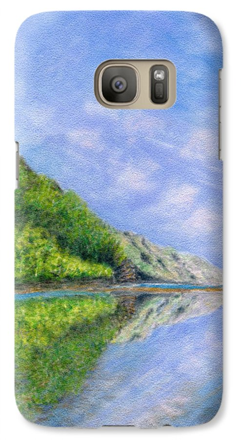 Rainbow Colors Pastel Galaxy S7 Case featuring the painting In Reflection by Kenneth Grzesik