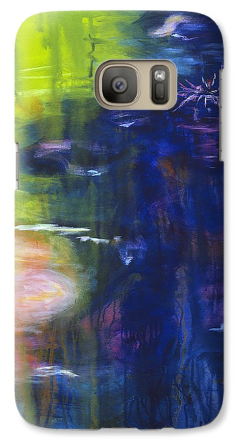 Abstract Galaxy S7 Case featuring the painting In The Flow by Tara Moorman
