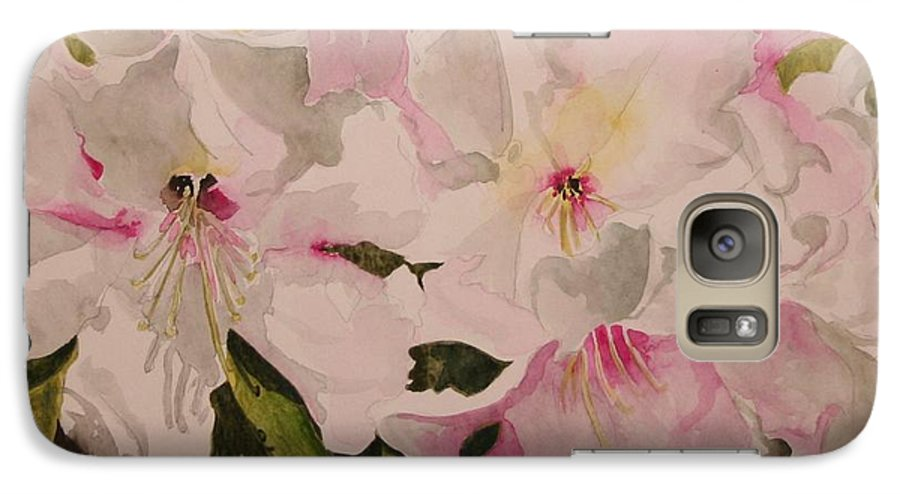 Pink Galaxy S7 Case featuring the painting In The Pink by Jean Blackmer