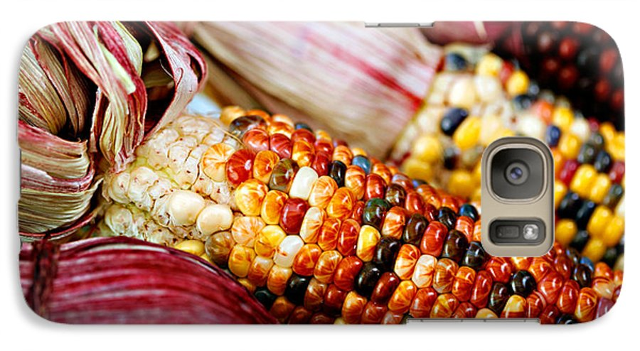 Corn Galaxy S7 Case featuring the photograph Indian Corn by Marilyn Hunt