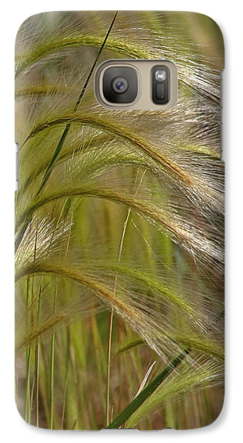 Grass Galaxy S7 Case featuring the photograph Indiangrass Swaying Softly With The Wind by Christine Till