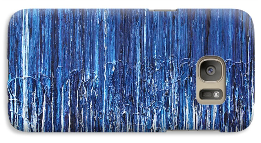 Fusionart Galaxy S7 Case featuring the painting Indigo Soul by Ralph White