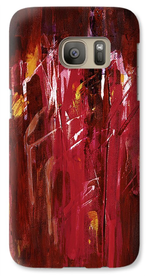 Abstract Galaxy S7 Case featuring the painting Initiation by Tara Moorman