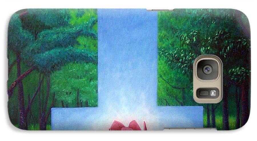 Spiritual Galaxy S7 Case featuring the painting Inner Bliss by Brian Commerford