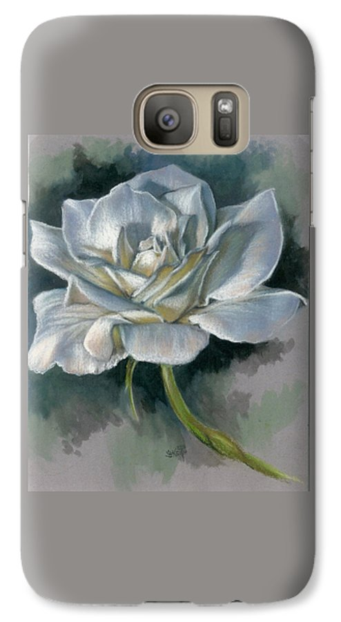 Rose Galaxy S7 Case featuring the mixed media Innocence by Barbara Keith