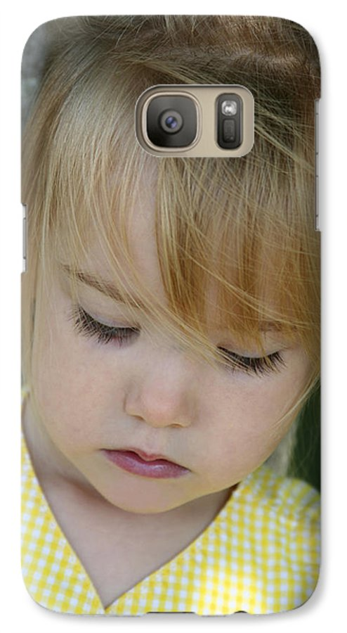 Angelic Galaxy S7 Case featuring the photograph Innocence II by Margie Wildblood