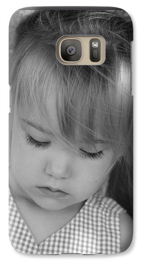 Angelic Galaxy S7 Case featuring the photograph Innocence by Margie Wildblood