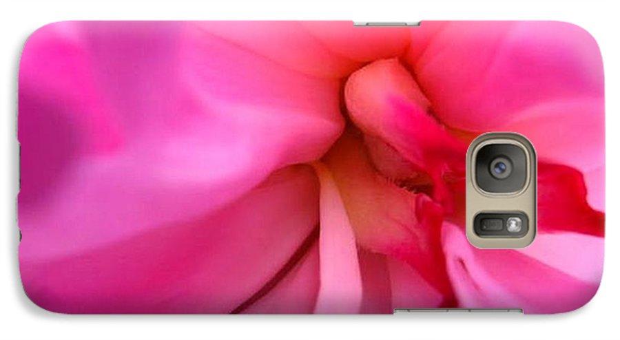 Flower Galaxy S7 Case featuring the photograph Inside A Peony by Rhonda Barrett