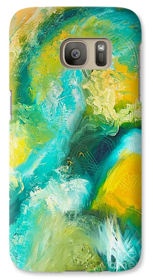 Inside A Wave Galaxy S7 Case featuring the painting Inside The Wave by Toni Daniel