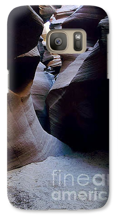 Slot Canyons Galaxy S7 Case featuring the photograph Into The Depths by Kathy McClure