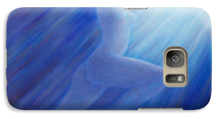 Spiritual Galaxy S7 Case featuring the painting Into The Light by Brian Commerford