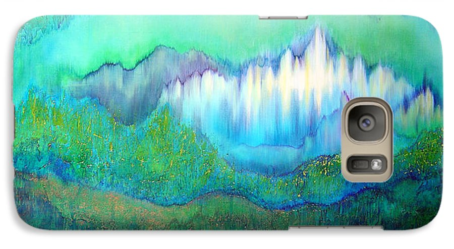 Blue Galaxy S7 Case featuring the painting Into The Ocean by Shadia Derbyshire