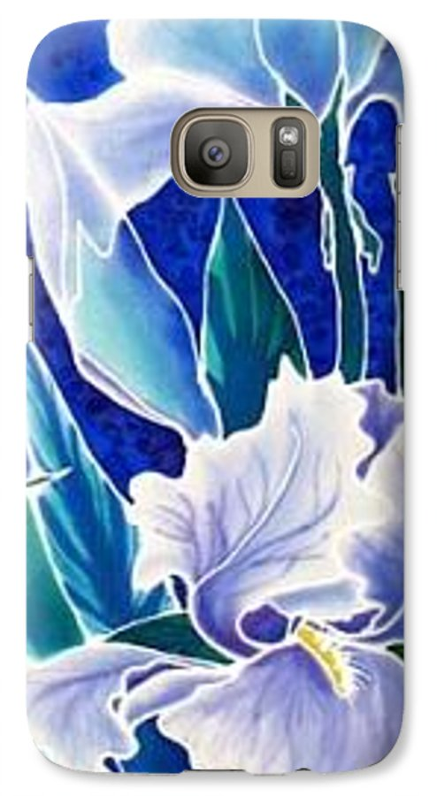 Iris Galaxy S7 Case featuring the painting Iris by Francine Dufour Jones