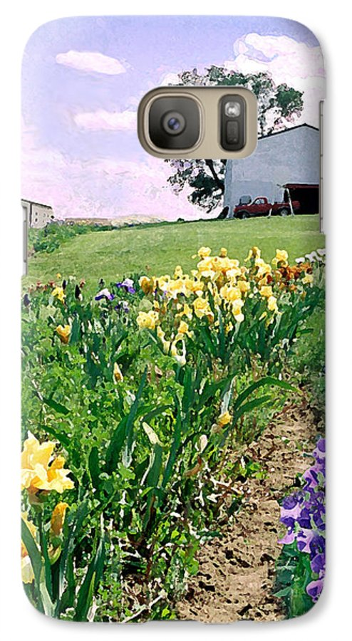 Landscape Painting Galaxy S7 Case featuring the photograph Iris Farm by Steve Karol