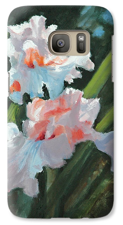 Irises Galaxy S7 Case featuring the painting Iris Pour Une Belle Femme by Glenn Secrest
