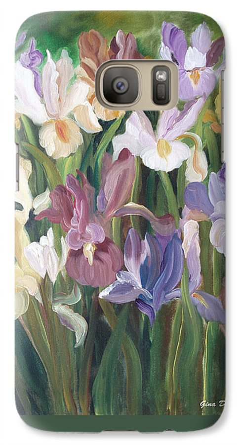 Irises Galaxy S7 Case featuring the painting Irises by Gina De Gorna