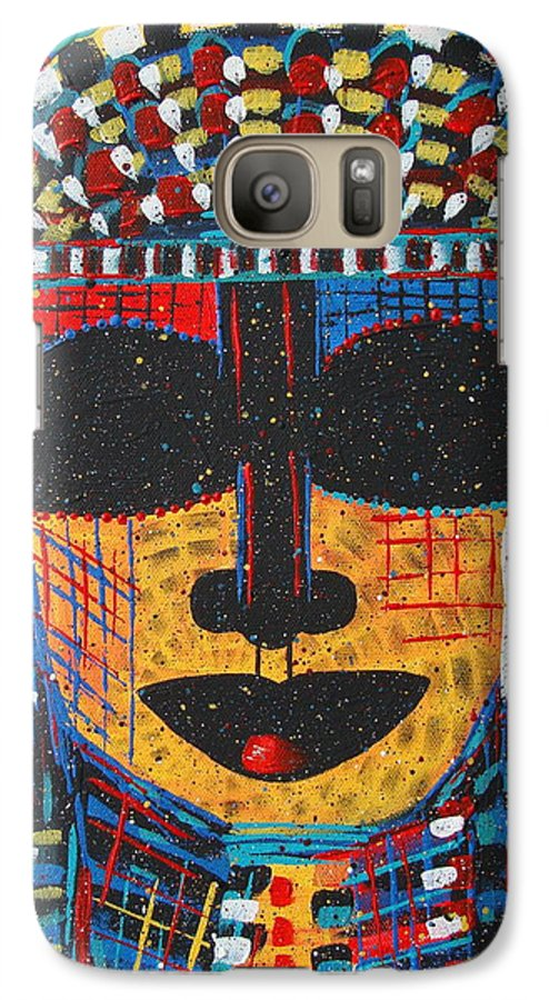 Abstract Galaxy S7 Case featuring the painting Isatoria by Natalie Holland