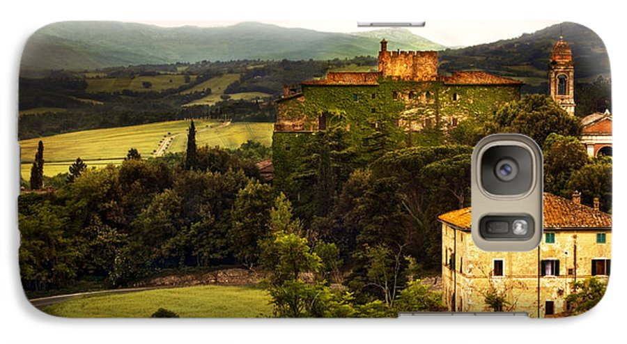 Italy Galaxy S7 Case featuring the photograph Italian Castle And Landscape by Marilyn Hunt