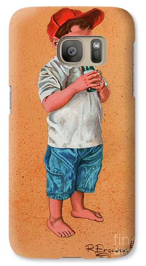 Summer Galaxy S7 Case featuring the painting It's A Hot Day - Es Un Dia Caliente by Rezzan Erguvan-Onal