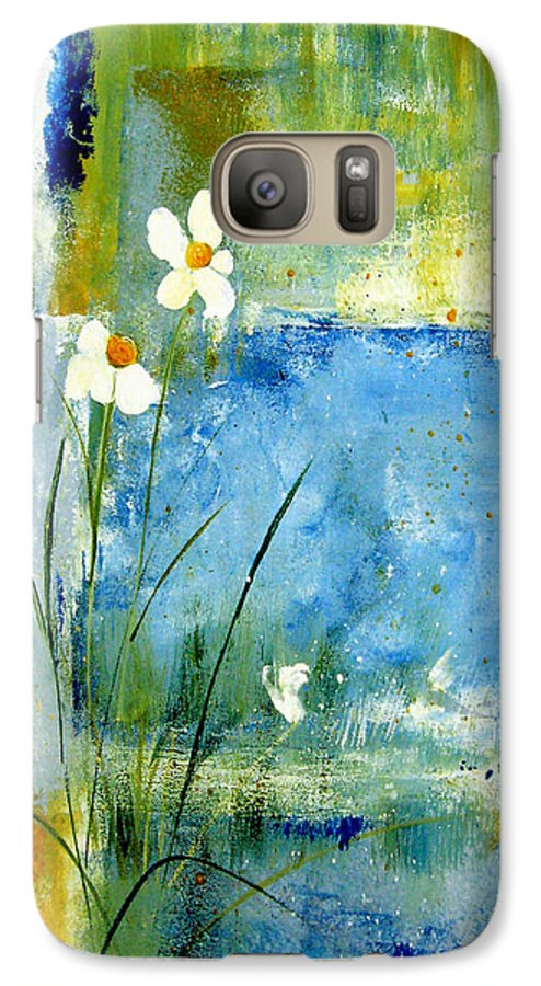 Abstract Galaxy S7 Case featuring the painting It's Just You And Me by Ruth Palmer
