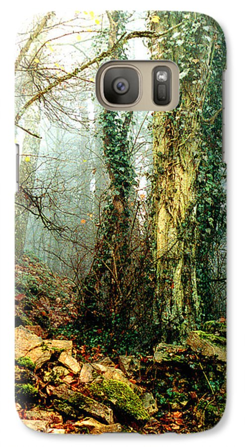 Ivy Galaxy S7 Case featuring the photograph Ivy In The Woods by Nancy Mueller