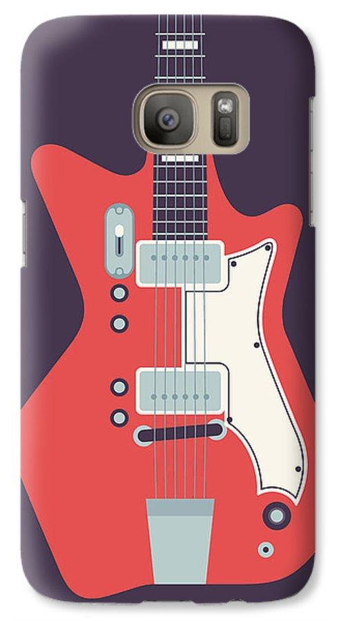 e4548cbf8e0 Guitar Galaxy S7 Case featuring the digital art 60's Electric Guitar - Black  by Ivan Krpan