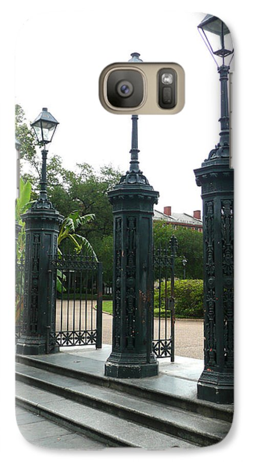 Jackson Square Galaxy S7 Case featuring the photograph Jackson Square by Kathy Schumann