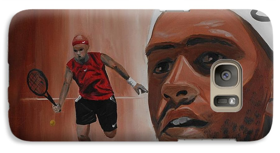 James Galaxy S7 Case featuring the painting James Blake by Quwatha Valentine