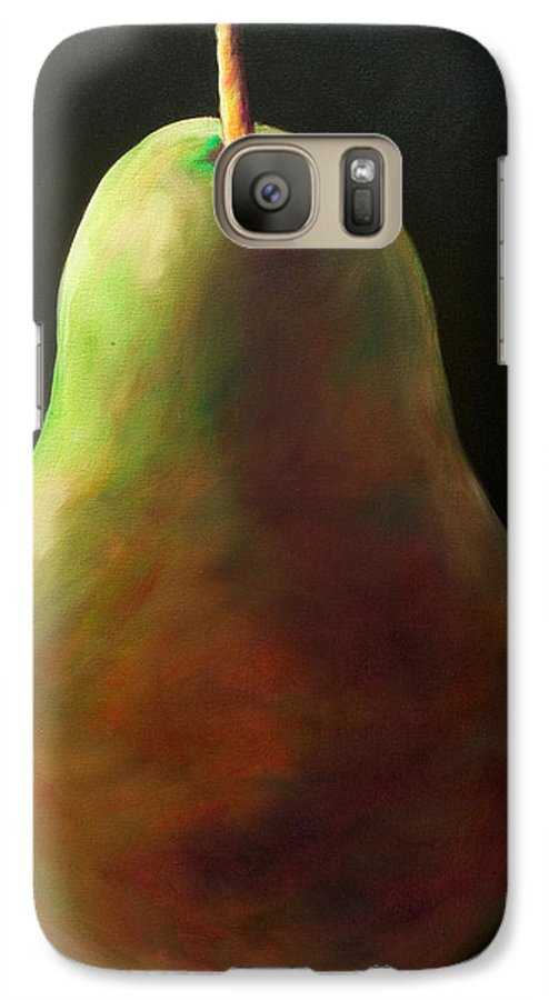Pear Galaxy S7 Case featuring the painting Jan by Shannon Grissom