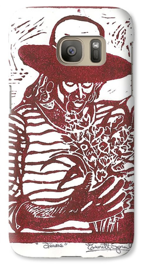Jannie Galaxy S7 Case featuring the painting Jannie by Everett Spruill