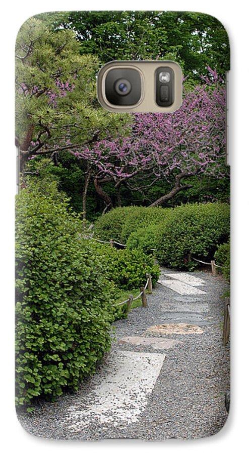 Japanese Garden Galaxy S7 Case featuring the photograph Japanese Garden I by Kathy Schumann