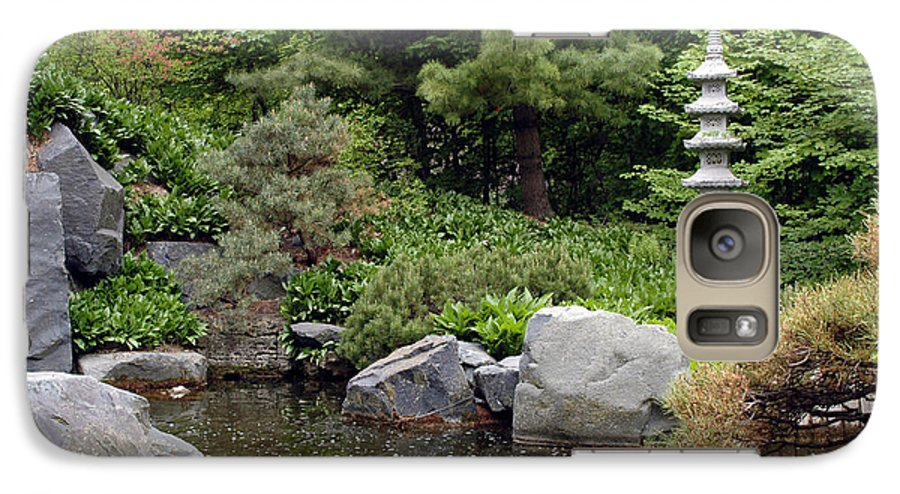 Japanese Garden Galaxy S7 Case featuring the photograph Japanese Garden Iv by Kathy Schumann