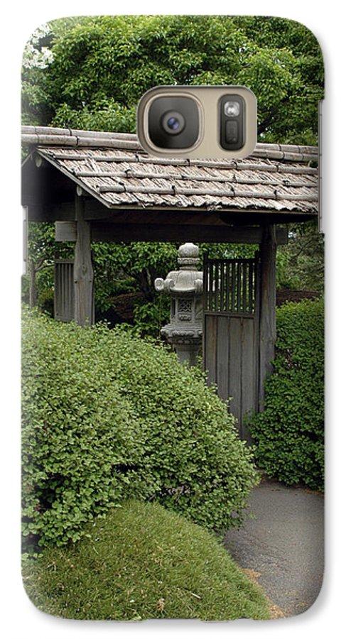 Japanese Garden Galaxy S7 Case featuring the photograph Japanese Garden by Kathy Schumann