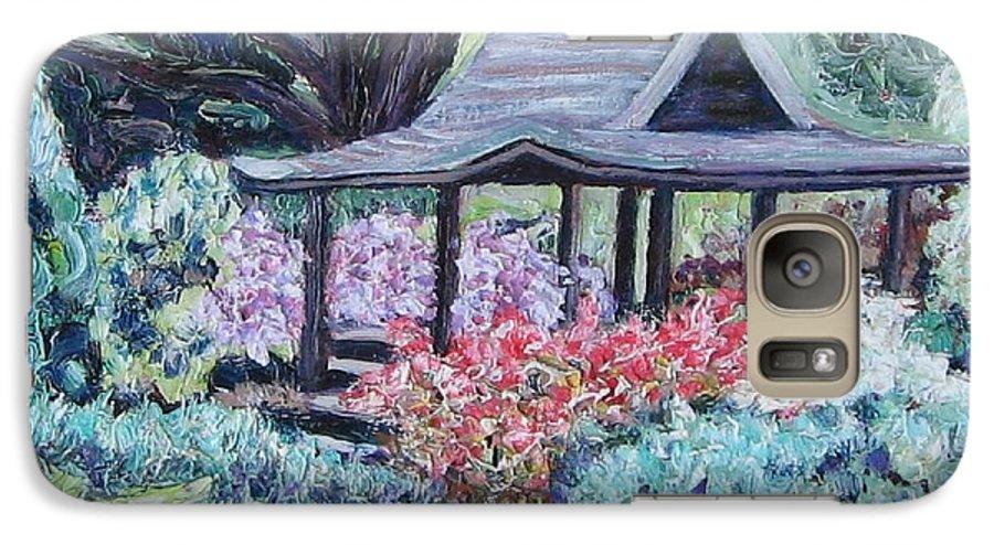 Garden Galaxy S7 Case featuring the painting Japanese Garden by Richard Nowak