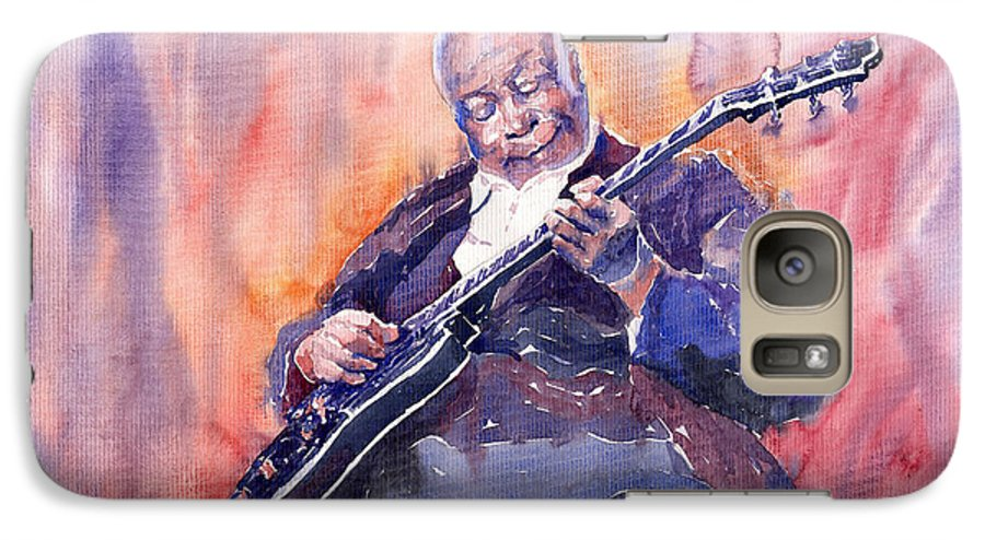 Jazz Galaxy S7 Case featuring the painting Jazz B.b. King 03 by Yuriy Shevchuk