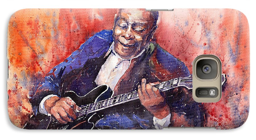 Jazz Galaxy S7 Case featuring the painting Jazz B B King 06 A by Yuriy Shevchuk