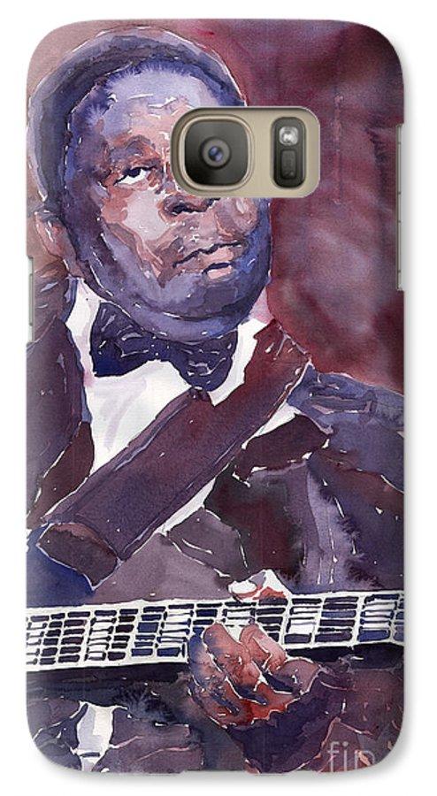 Jazz Bbking Guitarist Blues Portret Figurative Music Galaxy S7 Case featuring the painting Jazz B B King by Yuriy Shevchuk