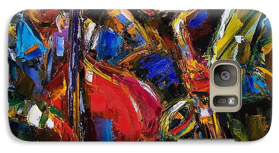 Jazz Galaxy S7 Case featuring the painting Jazz by Debra Hurd