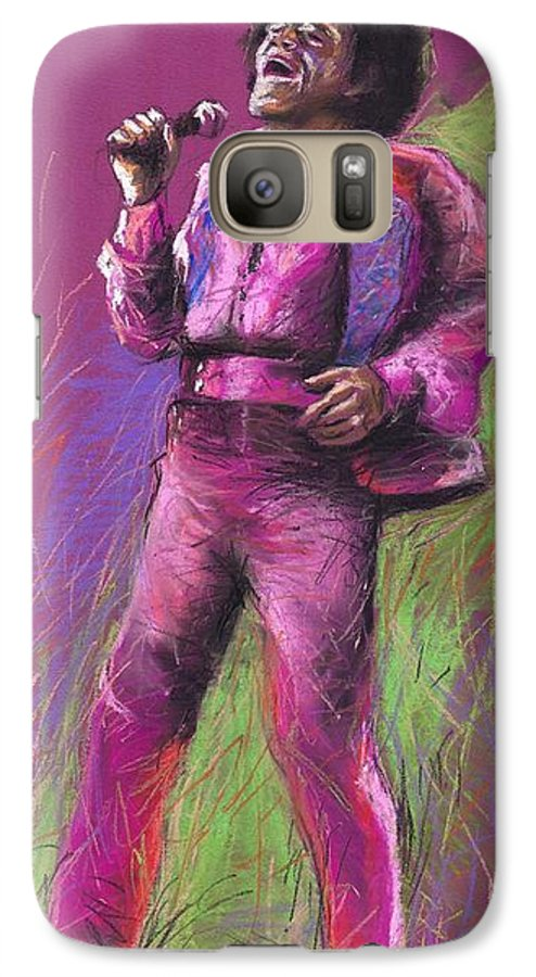 Jazz Galaxy S7 Case featuring the painting Jazz James Brown by Yuriy Shevchuk