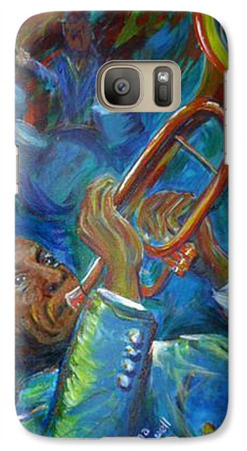 Jazz Galaxy S7 Case featuring the painting Jazz Man by Regina Walsh