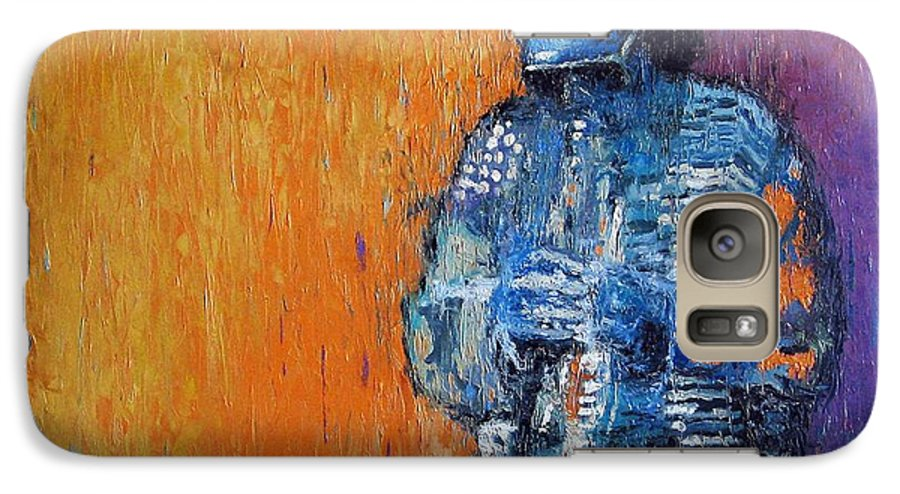 Jazz Galaxy S7 Case featuring the painting Jazz Miles Davis 2 by Yuriy Shevchuk