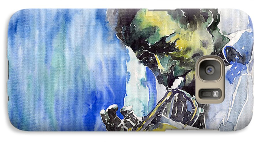 Galaxy S7 Case featuring the painting Jazz Miles Davis 5 by Yuriy Shevchuk