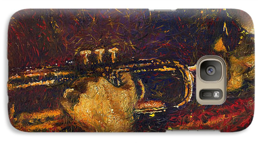 Jazz Galaxy S7 Case featuring the painting Jazz Miles Davis by Yuriy Shevchuk