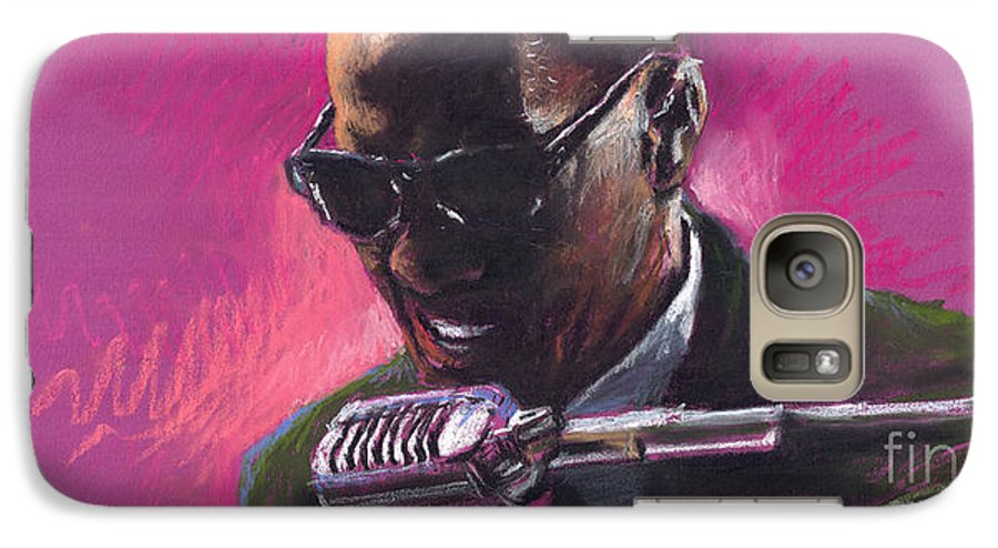 Jazz Galaxy S7 Case featuring the painting Jazz. Ray Charles.1. by Yuriy Shevchuk