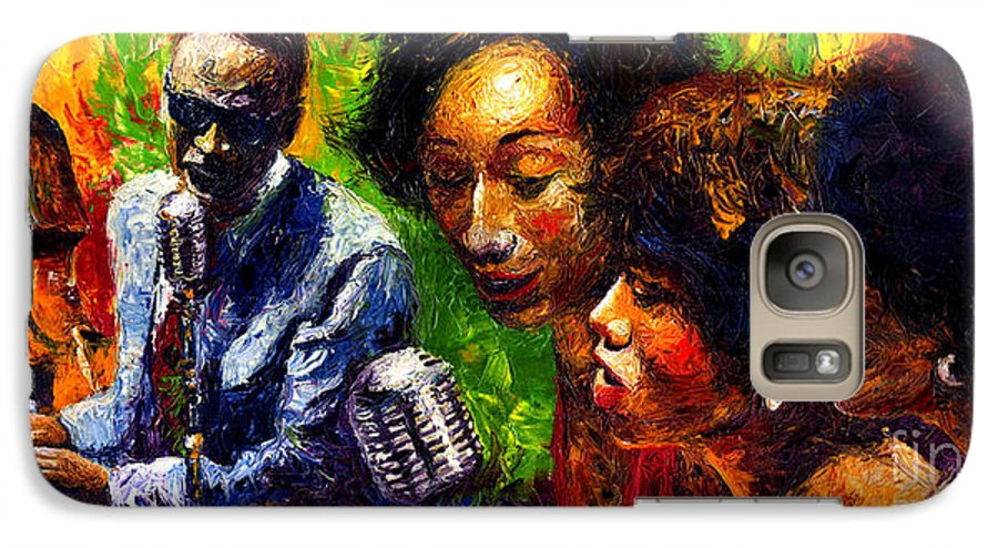 Jazz Galaxy S7 Case featuring the painting Jazz Ray Song by Yuriy Shevchuk