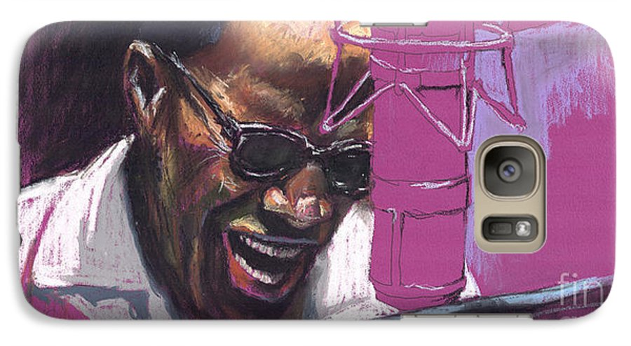 Jazz Galaxy S7 Case featuring the painting Jazz Ray by Yuriy Shevchuk